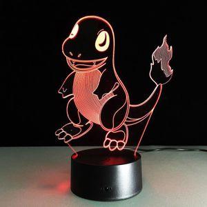 OBJETS LUMINEUX DÉCO  3D Nuit Lumière Lampe Acrylique Pokemon Charmander