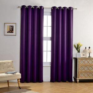 rideaux violet achat vente rideaux violet pas cher cdiscount. Black Bedroom Furniture Sets. Home Design Ideas