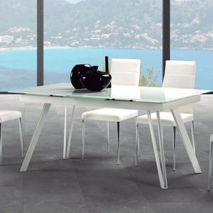 Laquee Blanc Table Pas Cher Extensible Achat Vente stdChQr