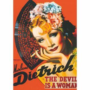 PUZZLE Puzzle 1000 pièces - Vintage Posters : Marlene ...