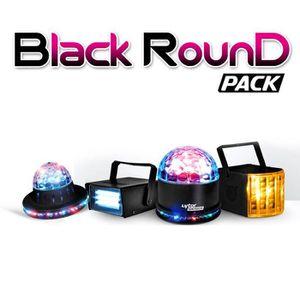 JEUX DE LUMIERE Pack Black ROUND 4 Effets Derby Zirkus + SunMagic