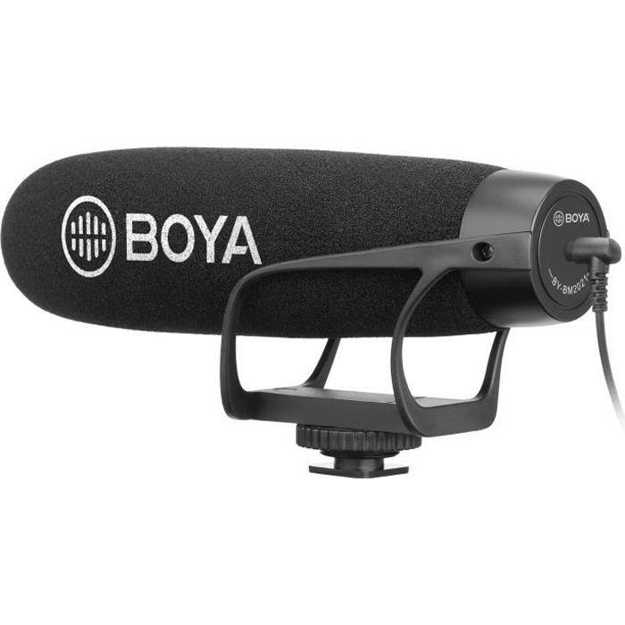 BOYA BM2021 Microphone canon à condensateur - Câble de sortie TRS & TRRS 3,5 mm