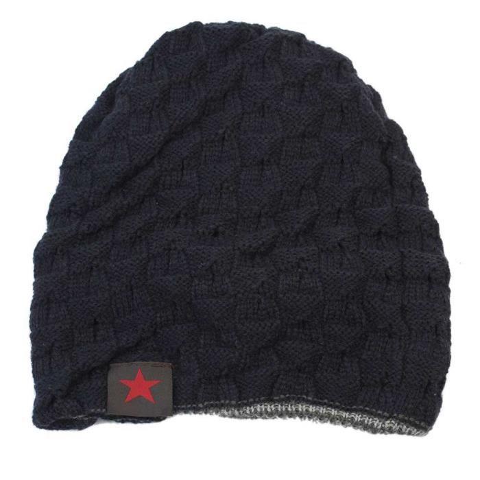homme gar on chapeau tricot bonnet crochet hiver automne cadeau hat cap beanie achat vente. Black Bedroom Furniture Sets. Home Design Ideas