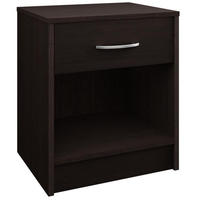 table de chevet noir/merano hauteur 50cm - achat / vente chevet