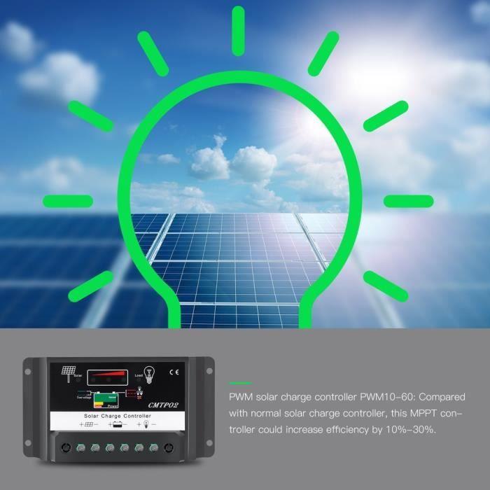 Régulateur Solaire 20A 12V-24V PWM Contrôleur Charge de Batterie Panneau 3606fe51c411