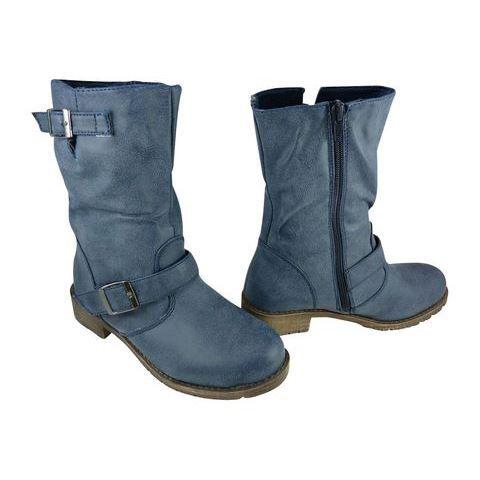 ca767321db714 Boots femme à boucles Bleu - Achat   Vente Boots femme à boucles ...