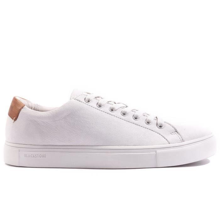 6d23bacb79b68 Blackstone Basket cuir blanc Blanc blanc - Achat   Vente basket ...