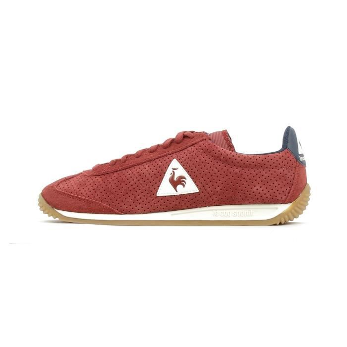 c69b7c05e1e Baskets basses Le Coq Sportif Quartz Perforated Nubuck Rouge Rouge ...