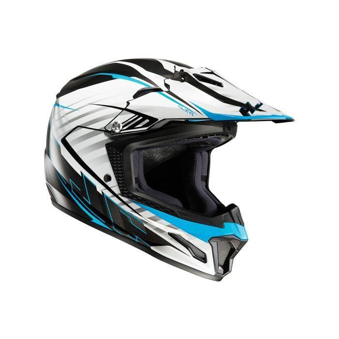 CASQUE MOTO SCOOTER Casque Motocross Enfant HJC CL-XY II Bleu