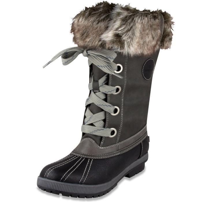 London Fog Femmes Melton temps froid imperméable botte de neige X60S1 Taille-39 ja9ML