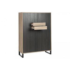 vitrine grise laque achat vente pas cher. Black Bedroom Furniture Sets. Home Design Ideas