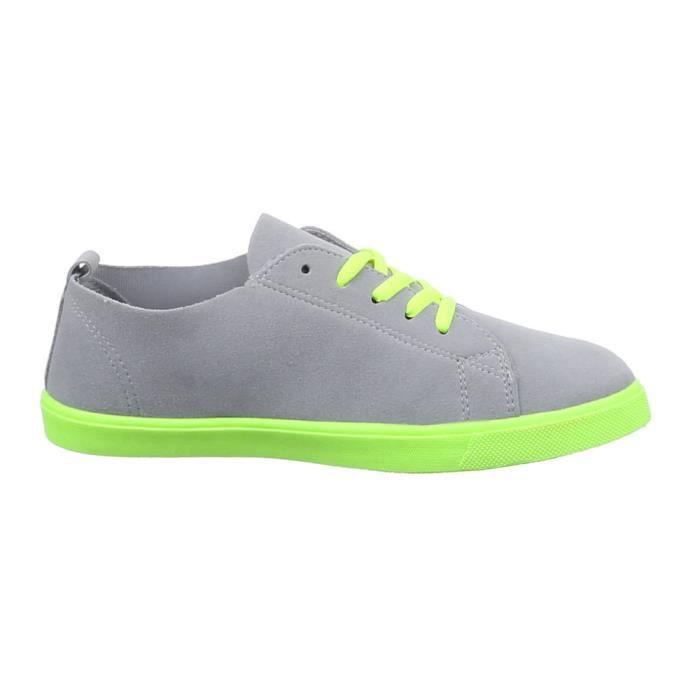 Chaussures femmes sneakers Derbies gris