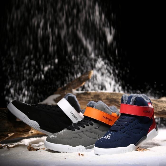 Nouveau mode haut-top Hommes d'hiver Bottes de neige Gardez Bottes chaud en peluche Bottines neige travail Chaussures Outdoor