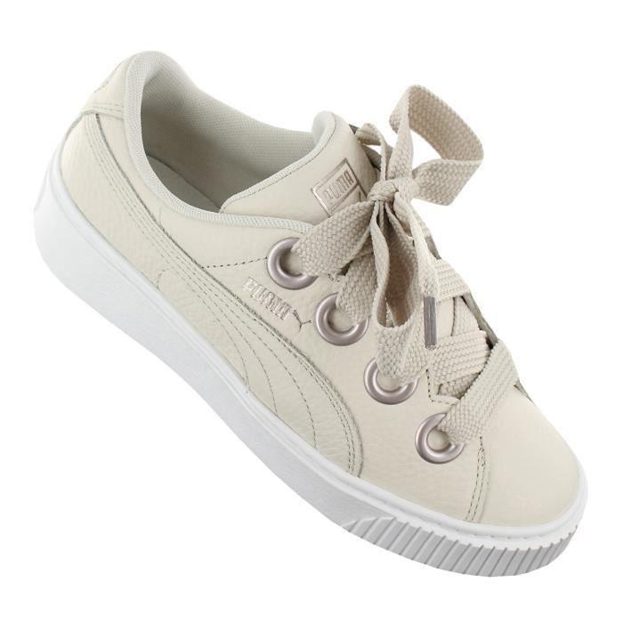 Platform Chaussures 366460 Femmes Lea Kiss Baskets Puma Beige 02 Sneaker gdYqg