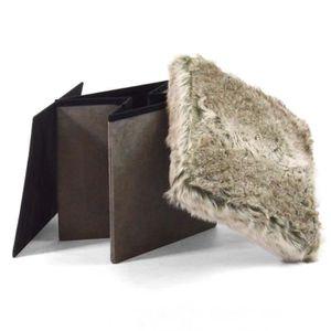 table basse avec pouffe achat vente pas cher. Black Bedroom Furniture Sets. Home Design Ideas
