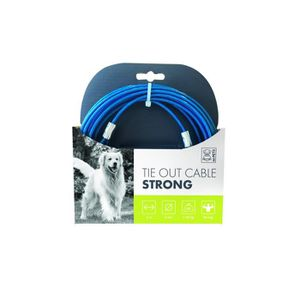MPETS Câble d'attache Tr?s resistant TIE OUT - Pour chien - 6m -Bleu