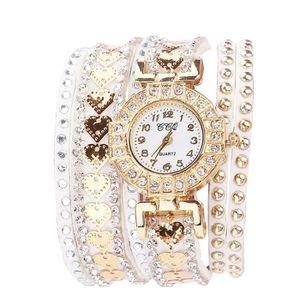 MONTRE Femme Mode bracelet en cuir analogique quartz rond