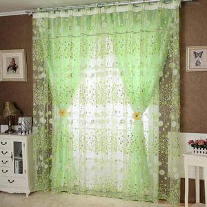 RIDEAU Floral Tulle porte fenêtre rideau panneau Drapé Va