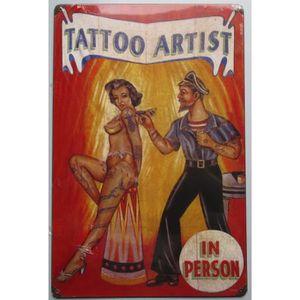 OBJET DÉCORATION MURALE plaque tole épaisse tattoo artist deco salon tatou