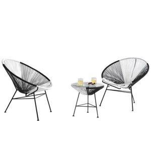 cheap fauteuil jardin ensemble de jardin design fauteuils table with fauteuil rond loveuse. Black Bedroom Furniture Sets. Home Design Ideas