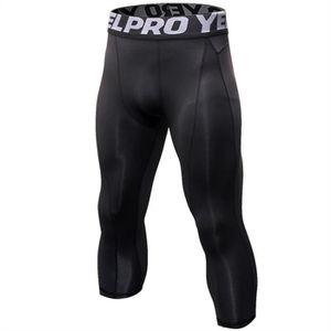 LEGGING DE COMPRESSION Fitibest Hommes 3-4 Pantalon de compression, Noir