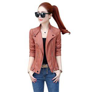 VESTE Veste courte faux cuir pour femmes blazer mode aut e894da98e4e6