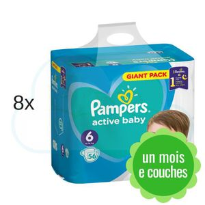 COUCHE 448 COUCHES PAMPERS ACTIVE BABY taille 6