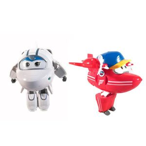 FIGURINE - PERSONNAGE 2PCS SUPER WINGS Avion transformable Figurine cade 13279be2b528