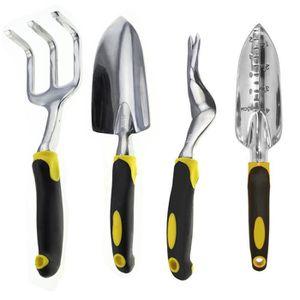 LOT OUTILS DE JARDIN Couteau Désherbeur Transplantoir à main Cultivateu