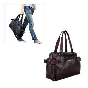 6cb6c6732c Sacs de voyage pour hommes Sac en cuir de luxe en cuir PU pour hommes Sacs