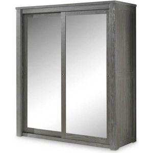 armoire porte coulissante miroir achat vente pas cher. Black Bedroom Furniture Sets. Home Design Ideas