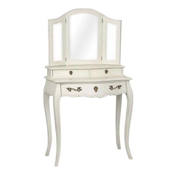 coiffeuse baroque blanche achat vente coiffeuse coiffeuse baroque blanche cdiscount. Black Bedroom Furniture Sets. Home Design Ideas