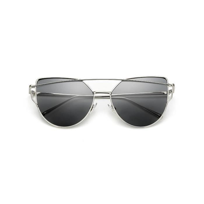 Lunettes de soleil mixte homme et femme Magnifique sunglasses marque de  Luxe Argent noir 27e033b8f1a1