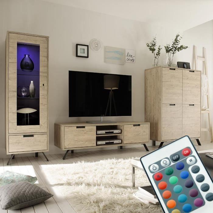 Meuble salon bois clair - Achat / Vente pas cher