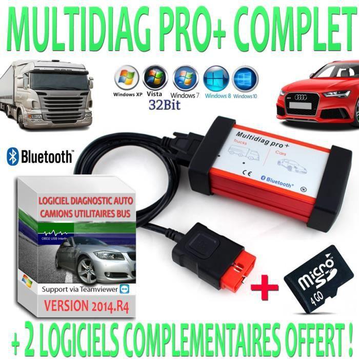 multidiag pro valise diagnostic multimarque complet pour voitures camions utilitaires et bus. Black Bedroom Furniture Sets. Home Design Ideas