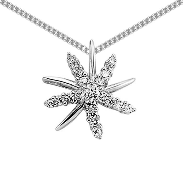 Jewelco London Dames Argent sterling blanc grappe Collier