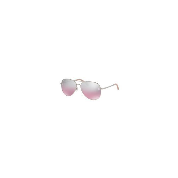 4fc8931cc Lunettes de soleil Chanel CH4189TQ Rose Argent LCH4189TQ C1247E 59-14