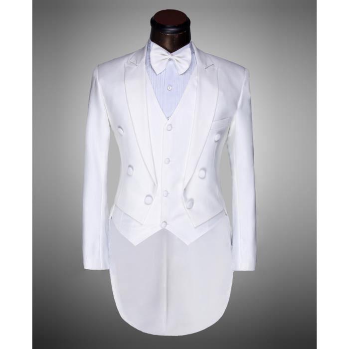 les hommes blanc tuxedo convient avec le gilet blanc achat vente costume tailleur cdiscount. Black Bedroom Furniture Sets. Home Design Ideas