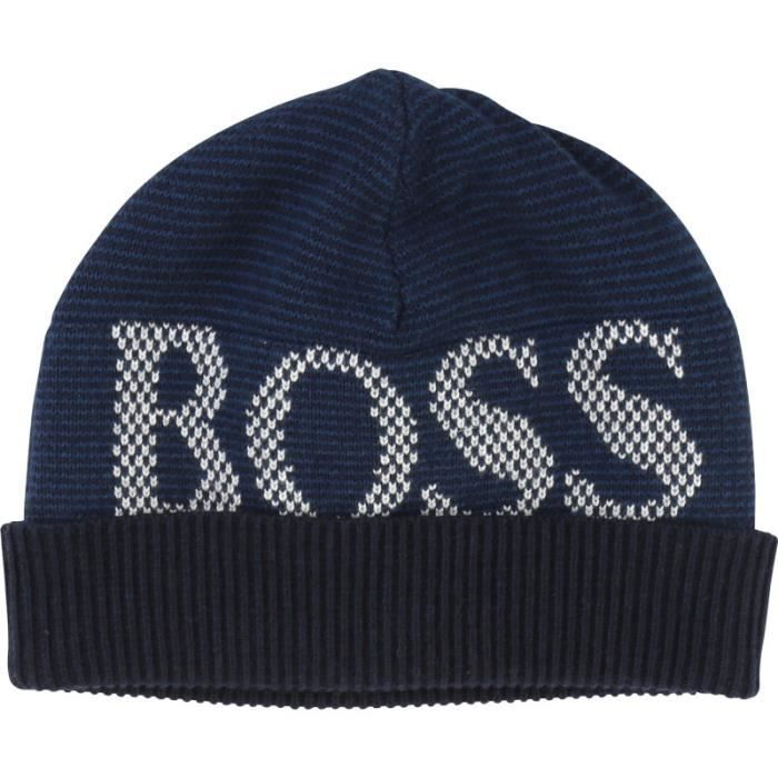 10858288a7b Bonnet Hugo Boss Bébé - Ref. J21181-849 Bleu Bleu - Achat   Vente ...