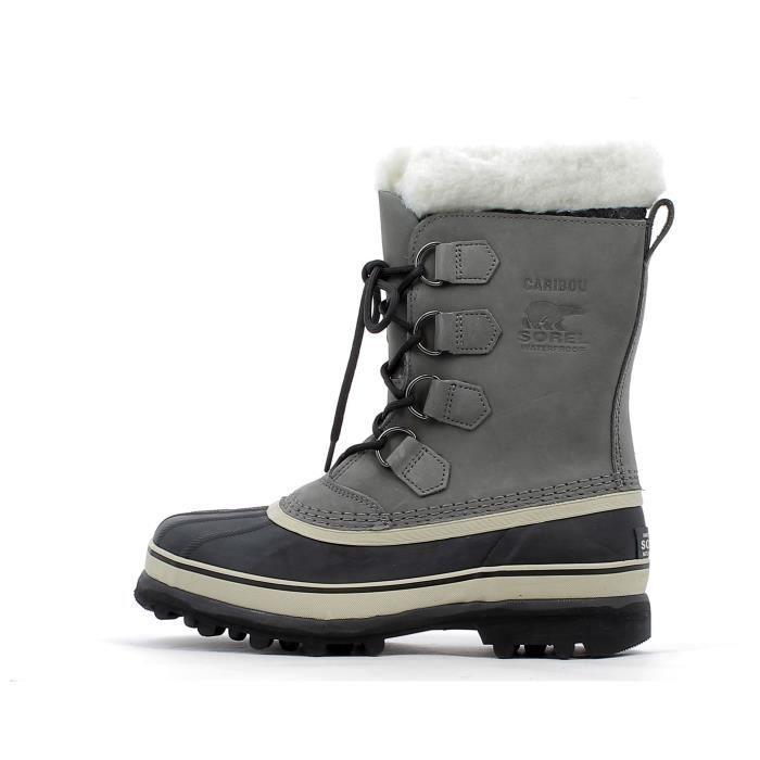Boots Sorel Caribou Gris Gris - Achat   Vente botte - Soldes  dès le ... 881242cc083d