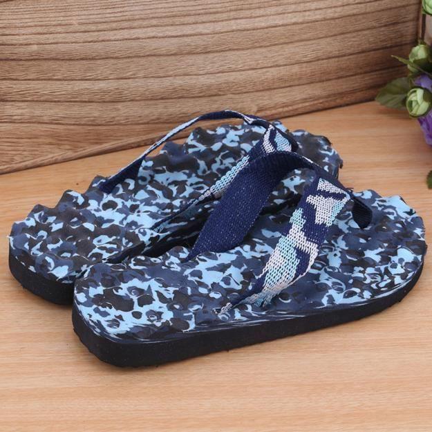 Chausson Et Intérieur Bleu Tongs Hommes Camouflage Extérieur Sandales D'été xYvAIPq