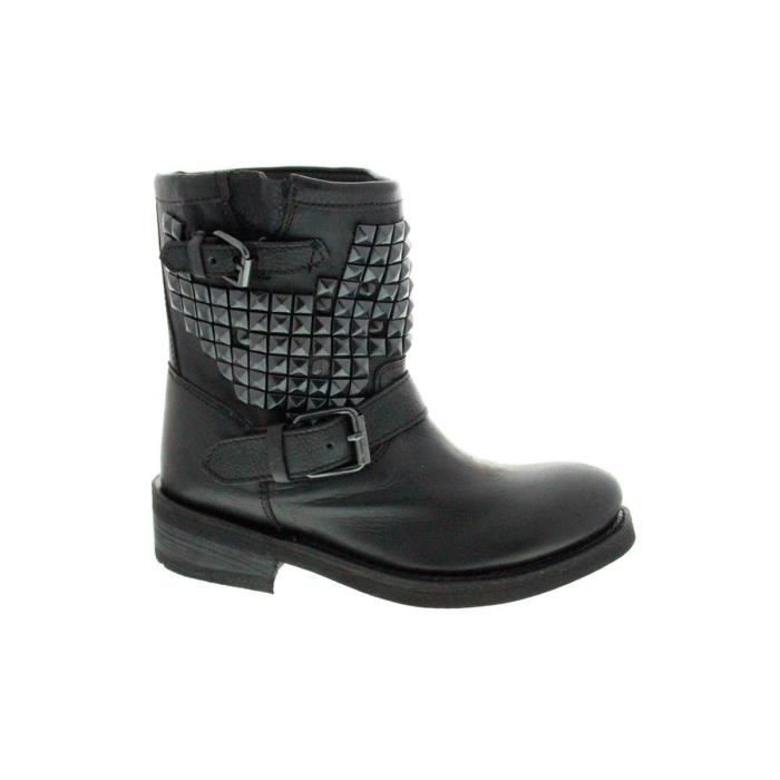 BOTTINE Titan Bis Destroyer Nappa Black Pavonado. Bottes femme Ash