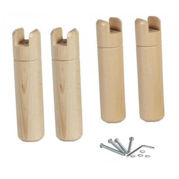 4 pieds bois pour cadre à lattes - achat / vente pied de lit 4
