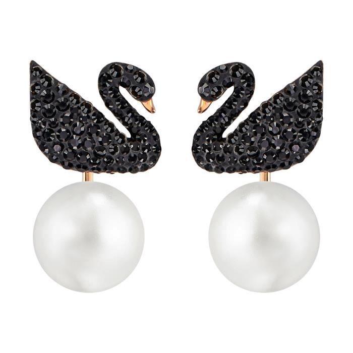 Boucles doreilles Swarovski Iconic Swan