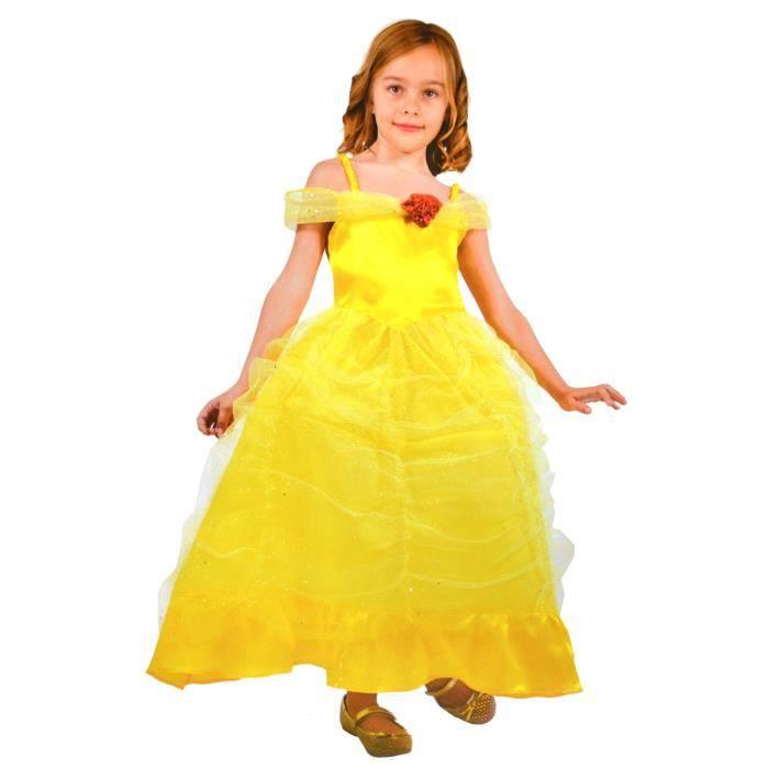 DÉGUISEMENT - PANOPLIE Déguisement de Princesse Jaune 5/7 ans aille Uniqu