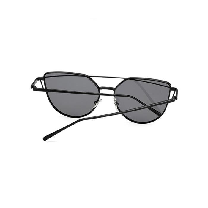 Lunettes de soleil mixte homme et femme Magnifique sunglasses marque de  Luxe Argent noir ... b66ddcacb724