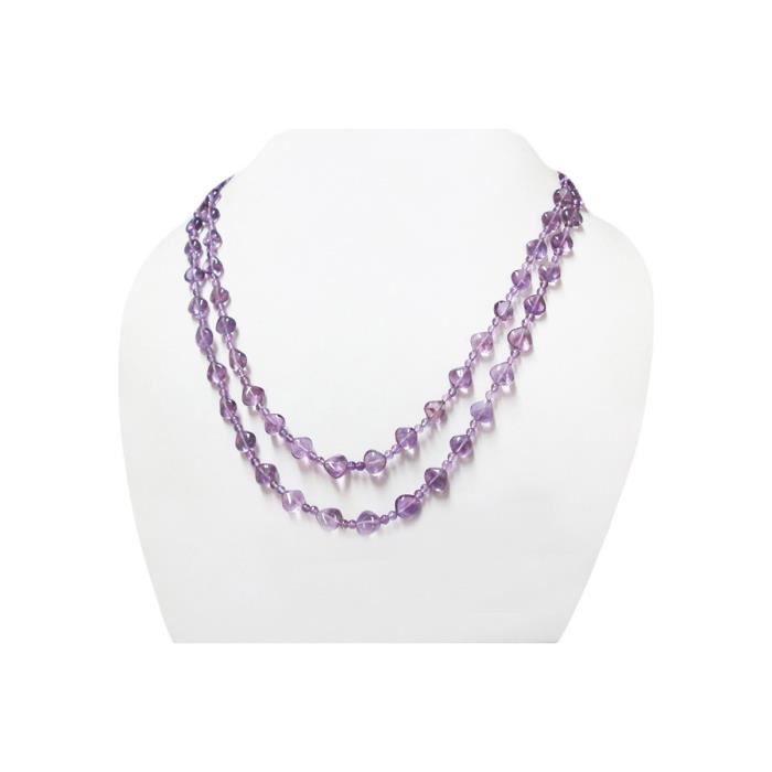Craze Multi-Strand Perles Délicat Collier Bijoux Avec 925 Constatations Argent Bijoux