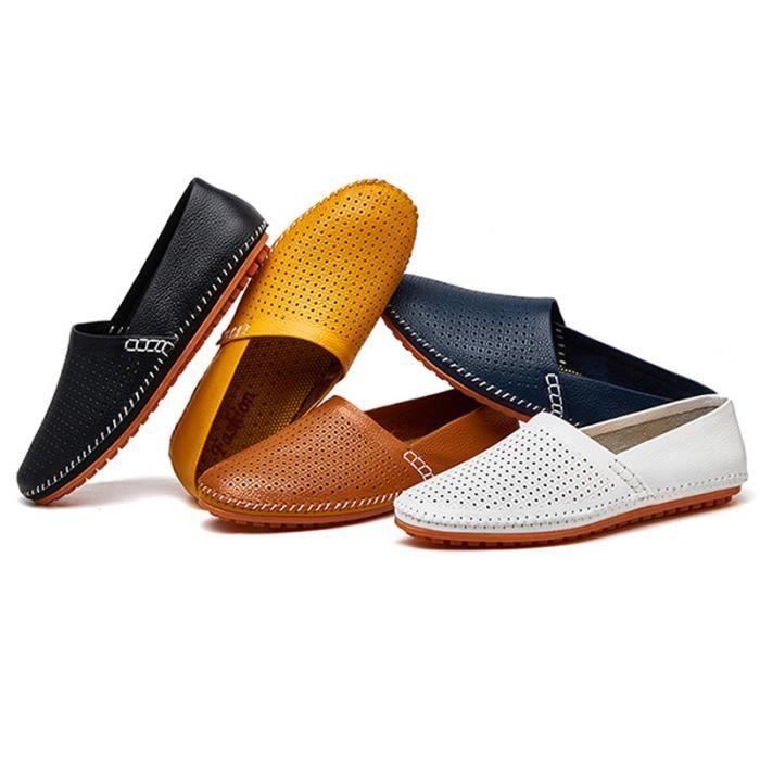 Chaussure Homme Meilleure Qualité En Cuir Souple Classique Marque Mocassins Chaussures RespirantesConfortable Légères dcxyMuwpX6