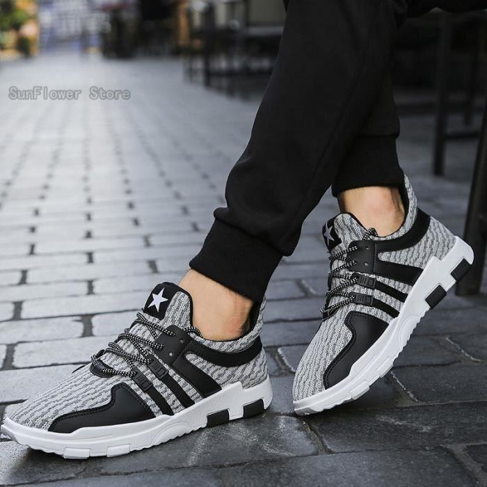 Décontractés Chaussures Noir-Gris - Nouvelle arrivee Meilleure Qualité nrNTAk
