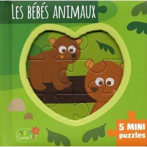 Livre 3-6 ANS Les bébés animaux. 5 mini puzzles
